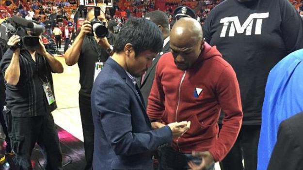 Floyd Mayweather Jr. y Manny Pacquiao